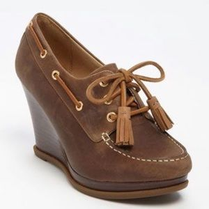 """Speedy Top-sider """"Seabourn"""" Lace-Up Wedge 8"""